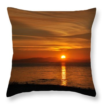 Throw Pillow featuring the photograph Sunset Mood by Sabine Edrissi