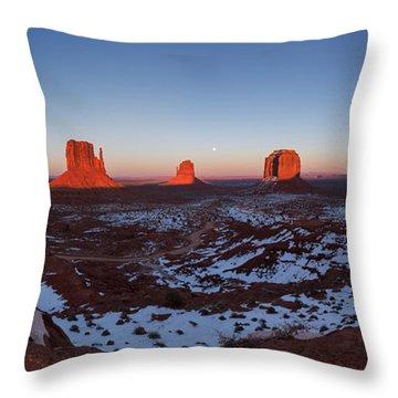 Sunset Moonrise Throw Pillow