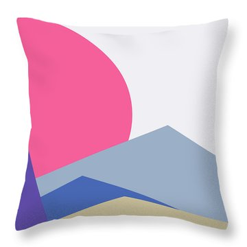 Sunset Nature Minimalistic Landscape Throw Pillow