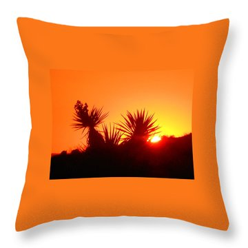 Sunset Near Castle Rock Throw Pillow