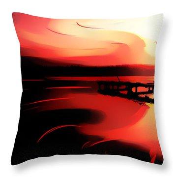 Sunset Of Fire Throw Pillow