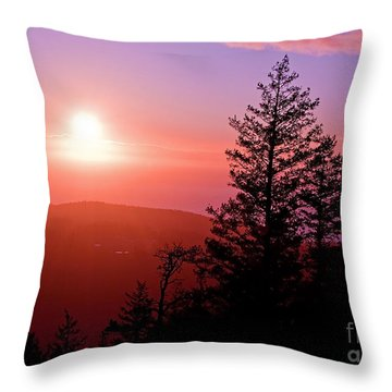 Sunset Off Mt Erie Washington Art Prints Throw Pillow