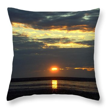 Sunset On A Cloudy Evening Throw Pillow