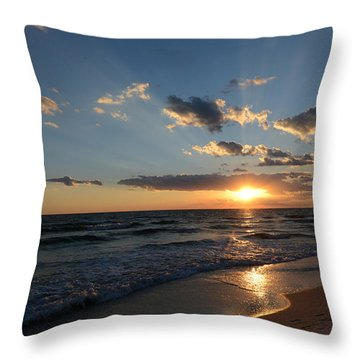 Sunset On Alys Beach Throw Pillow