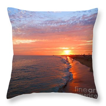 Sunset On Balboa Throw Pillow