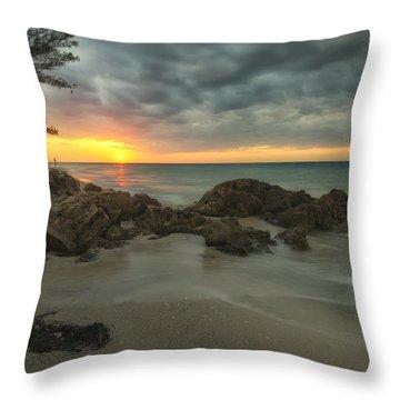 Sunset On Bean Point Throw Pillow
