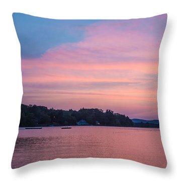 Sunset On Chickawaukee Lake Throw Pillow by Ernest Puglisi