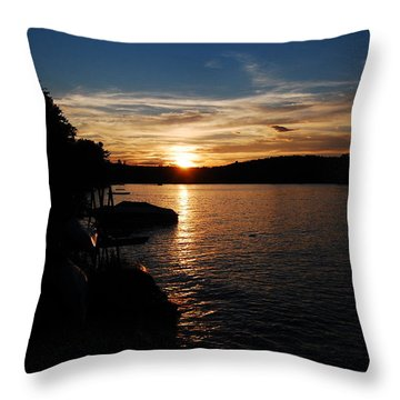 Throw Pillow featuring the photograph Sunset On Halfmoon by Mim White