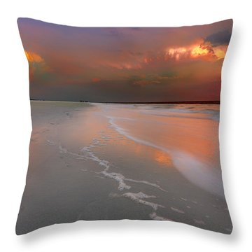 Sunset On Hilton Head Island Throw Pillow