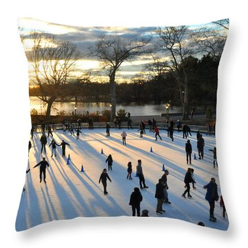 Sunset On Ice  Throw Pillow by Diane Lent