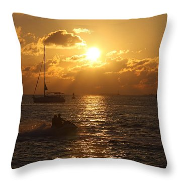 Throw Pillow featuring the photograph Sunset Over Key West by Christiane Schulze Art And Photography