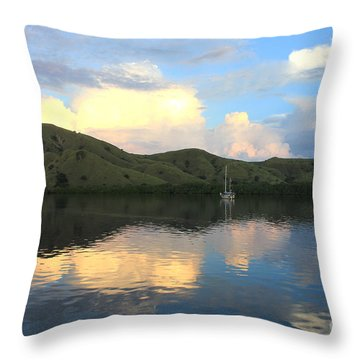 Sunset On Komodo Throw Pillow by Sergey Lukashin