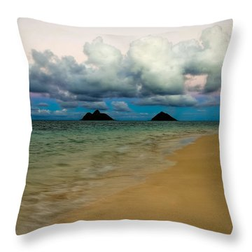 Sunset On Lanikai Throw Pillow by Kelly Wade