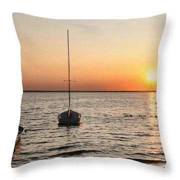 Sunset On Lbi Throw Pillow