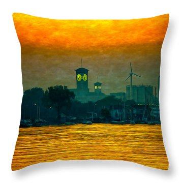 Sunset On Milwaukee's South Side  Throw Pillow