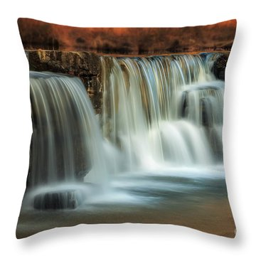 Sunset On Natural Dam Throw Pillow