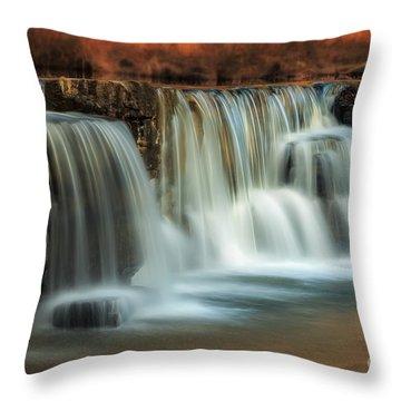 Sunset On Natural Dam Throw Pillow