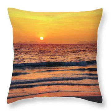 Sunset On Phiphi Island Throw Pillow