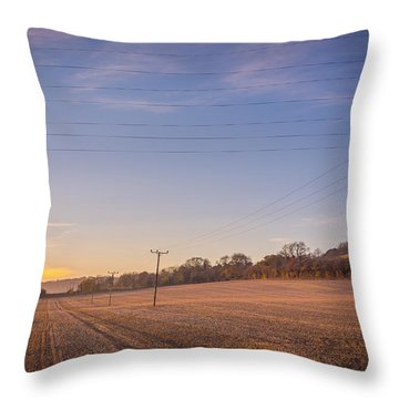 Throw Pillow featuring the photograph Sunset On Poles by Gary Gillette