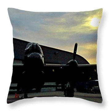 Sunset On Rememberance Day Throw Pillow by Danielle  Parent