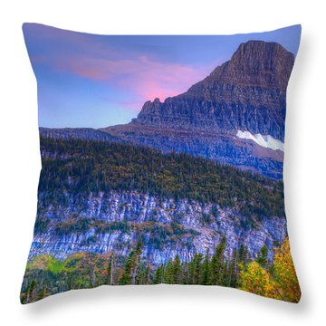 Sunset On Reynolds Mountain Throw Pillow