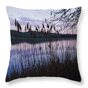 Sunset On Rockland Lake - New York Throw Pillow