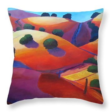 Sunset On Rollers Throw Pillow