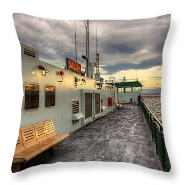 Sunset On Salish Throw Pillow