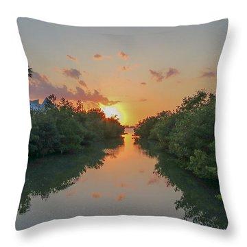 Sunset On Sarasota Bay Throw Pillow