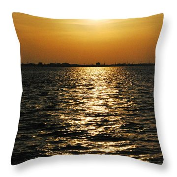Throw Pillow featuring the photograph Sunset On Sullivan's Island by Cleaster Cotton copyright