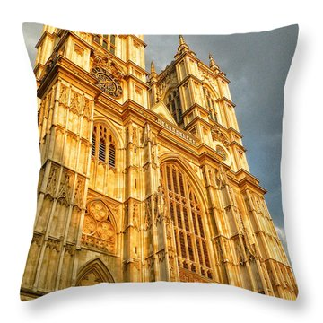 Sunset On The Abbey  Throw Pillow