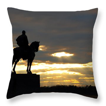 Sunset On The Battlefield Throw Pillow