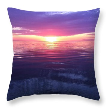 Throw Pillow featuring the photograph Sunset On The Bay by Tiffany Erdman