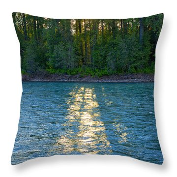 Sunset On The Bulkley Throw Pillow
