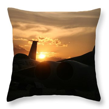Sunset On The Cold War Throw Pillow