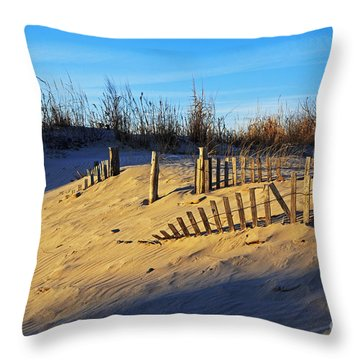 Sunset On The Dunes Throw Pillow