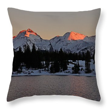 Sunset On The Grenadiers Throw Pillow