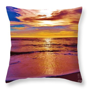 Sunset On The Gulf Throw Pillow