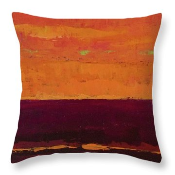 Sunset On The Pier Throw Pillow by Gail Kent
