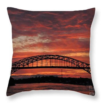 Sunset On The Piscataqua         Throw Pillow