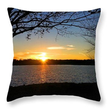 Sunset On The Potomac Throw Pillow
