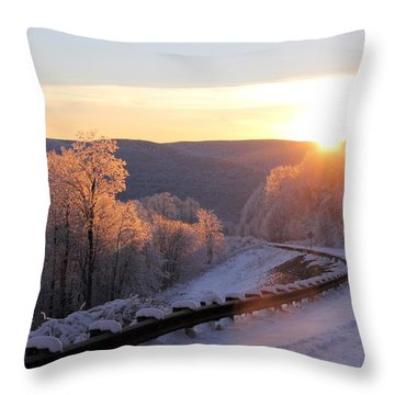Sunset On The Scenic Highway Throw Pillow