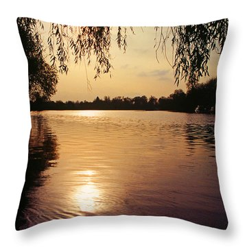 Sunset On The Thames Throw Pillow by John Topman