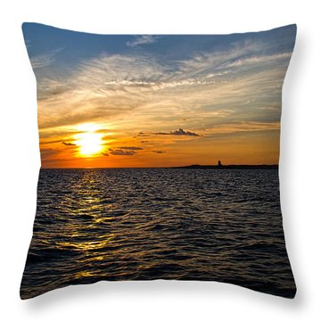 Throw Pillow featuring the photograph Sunset On The Water In Provincetown by Eleanor Abramson