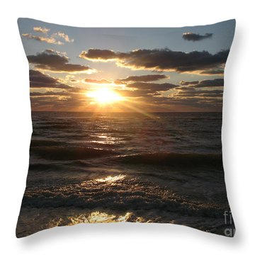 Sunset On Venice Beach  Throw Pillow by Christiane Schulze Art And Photography