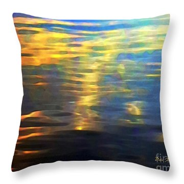 Sunset On Water Throw Pillow