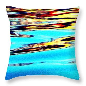 Sunset On Water Throw Pillow