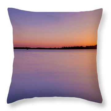 Sunset On White Bear Lake Throw Pillow