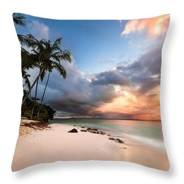 Throw Pillow featuring the photograph Sunset Over Bacardi Island by Mihai Andritoiu