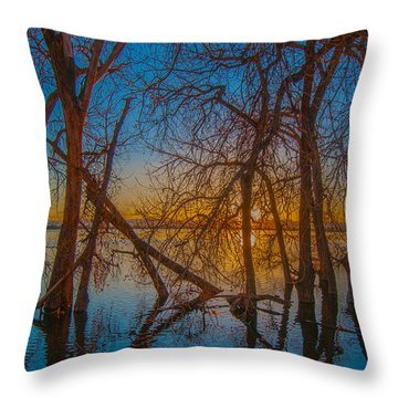 Sunset Over Barr Lake_2 Throw Pillow